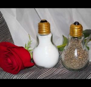 Salt and Pepper Light Bulbs Rose